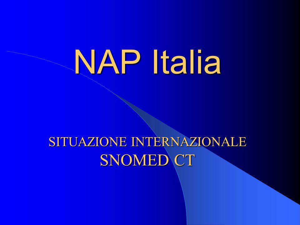 NAP Italia SITUAZIONE INTERNAZIONALE SNOMED CT