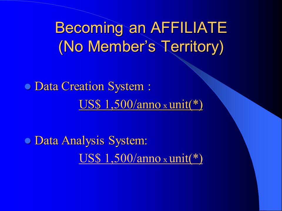 Becoming an Affiliate ( Member's territory ) Non è richiesto alcun tipo di pagamento per l'utilizzo dello SNOMED CT all'interno di un territorio definito membro dell'IHTSDO.