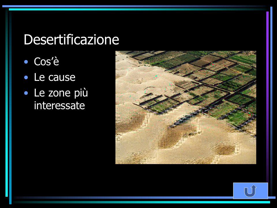 Desertificazione Cos'è Le cause Le zone più interessate