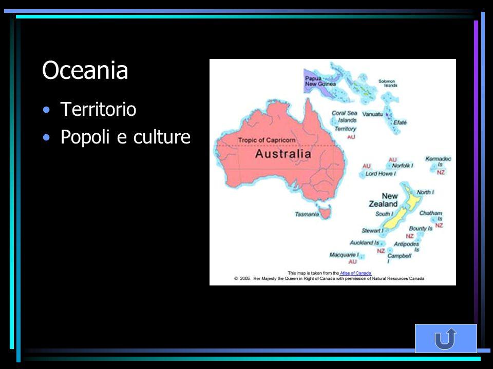 Oceania Territorio Popoli e culture