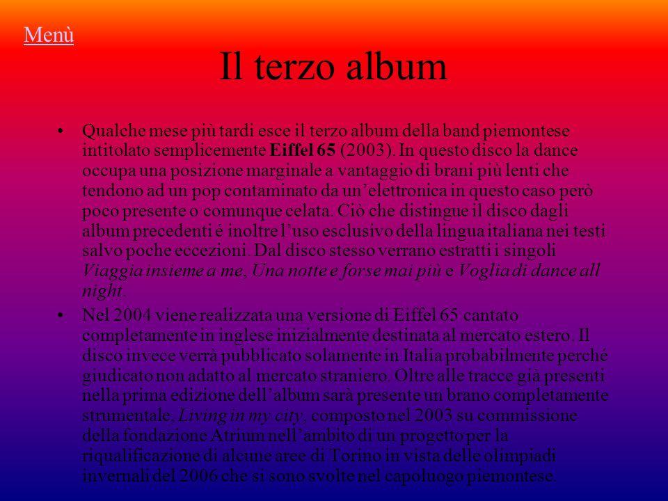 Il terzo album Qualche mese più tardi esce il terzo album della band piemontese intitolato semplicemente Eiffel 65 (2003).