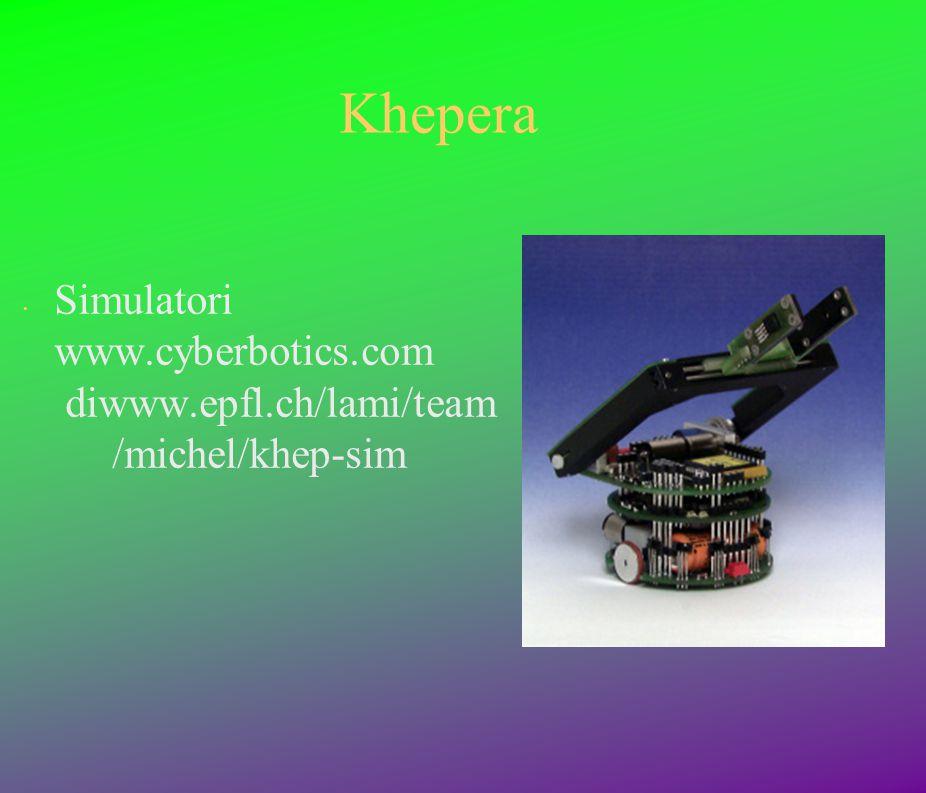 Khepera Simulatori www.cyberbotics.com diwww.epfl.ch/lami/team /michel/khep-sim