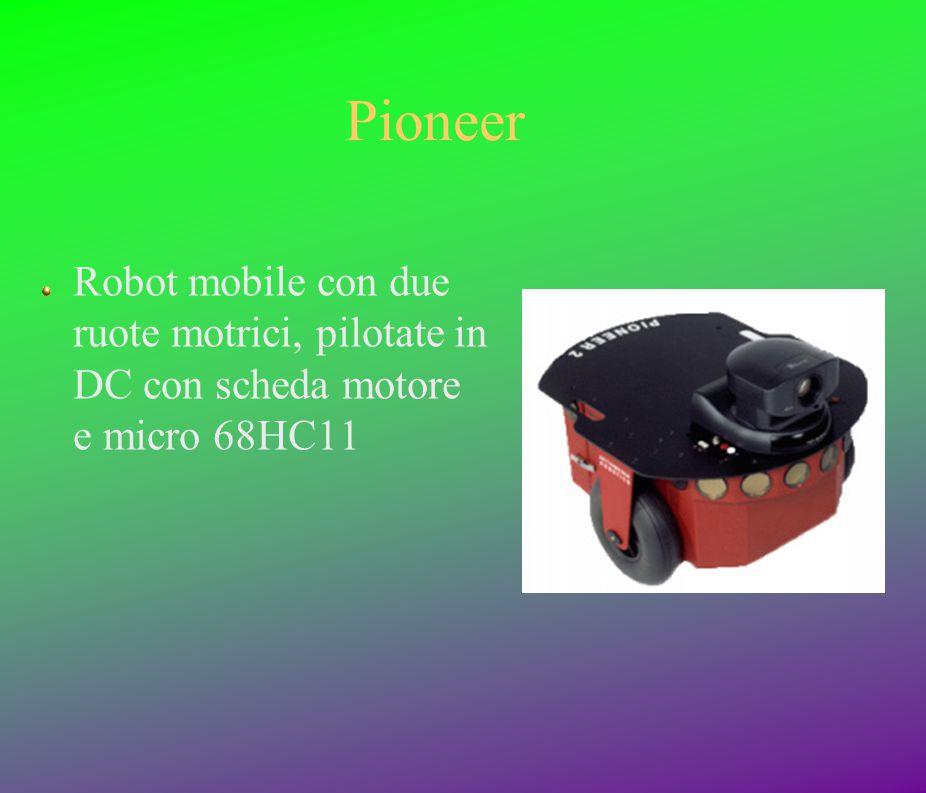 Pioneer Robot mobile con due ruote motrici, pilotate in DC con scheda motore e micro 68HC11