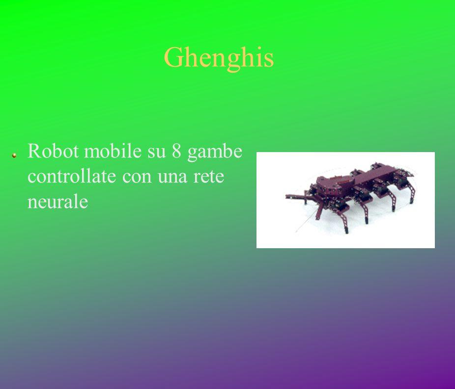 Ghenghis Robot mobile su 8 gambe controllate con una rete neurale