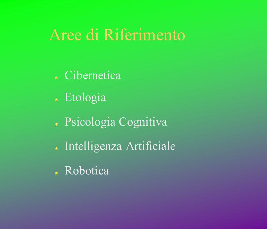 Aree di Riferimento Cibernetica Etologia Psicologia Cognitiva Intelligenza Artificiale Robotica