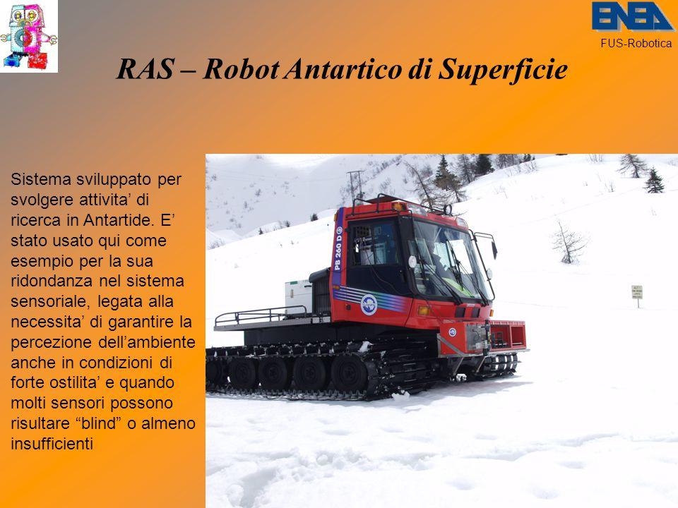 FUS-Robotica RAS – Robot Antartico di Superficie Sistema sviluppato per svolgere attivita' di ricerca in Antartide.