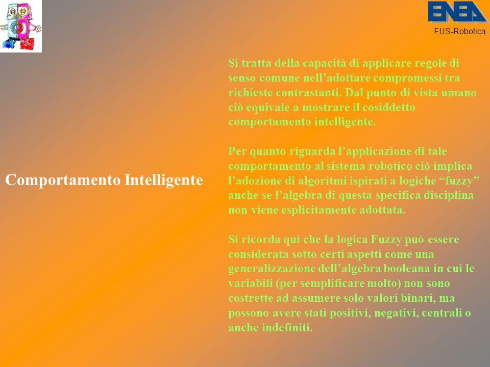 FUS-Robotica Comportamento Intelligente Si tratta della capacità di applicare regole di senso comune nell'adottare compromessi tra richieste contrastanti.