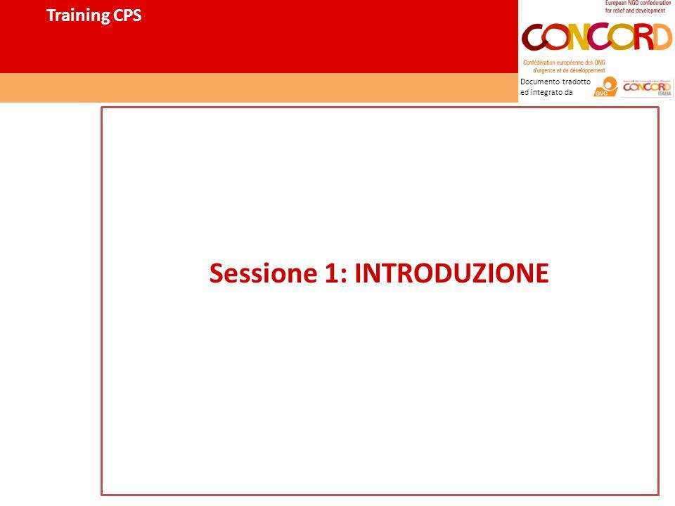 Documento tradotto ed integrato da Training CPS Sessione 1: INTRODUZIONE