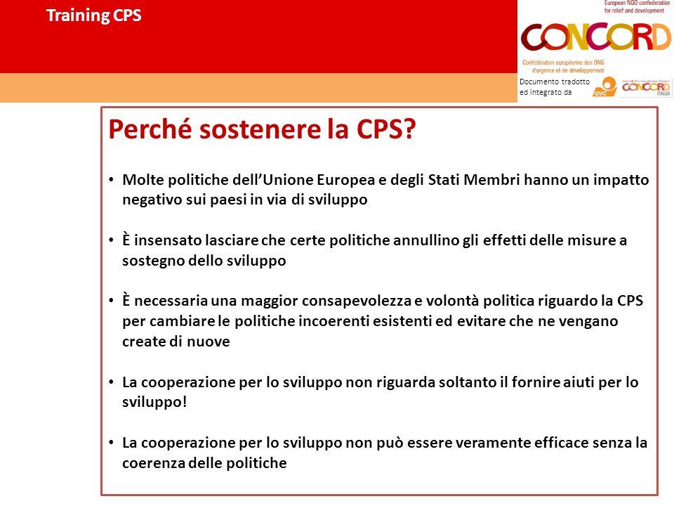 Documento tradotto ed integrato da Perché sostenere la CPS.