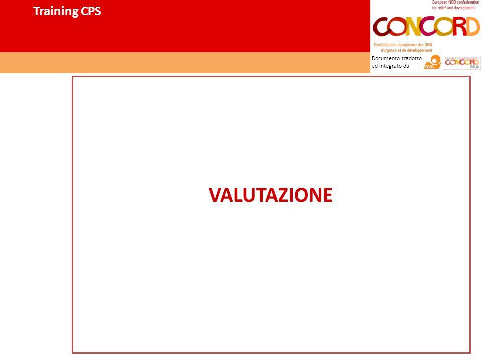 Documento tradotto ed integrato da VALUTAZIONE Training CPS