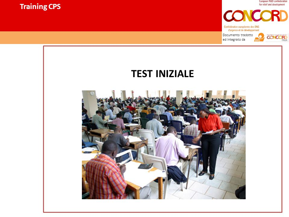 Documento tradotto ed integrato da TEST INIZIALE Training CPS