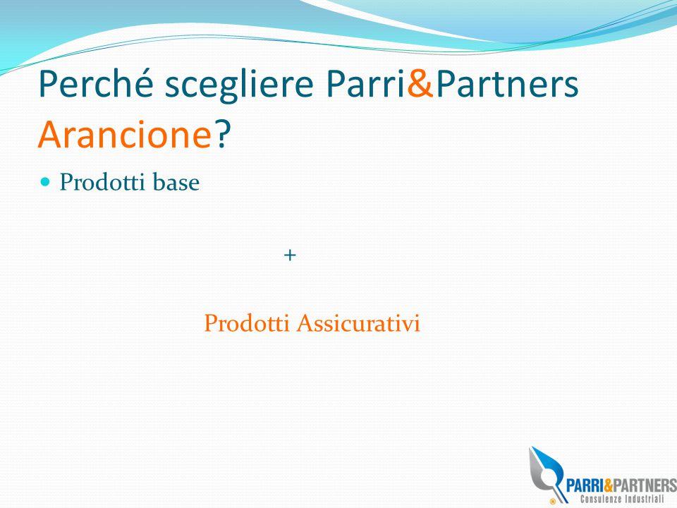 Perché scegliere Parri&Partners Arancione? Prodotti base + Prodotti Assicurativi