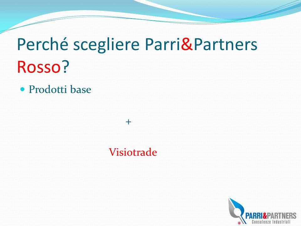 Perché scegliere Parri&Partners Rosso? Prodotti base + Visiotrade