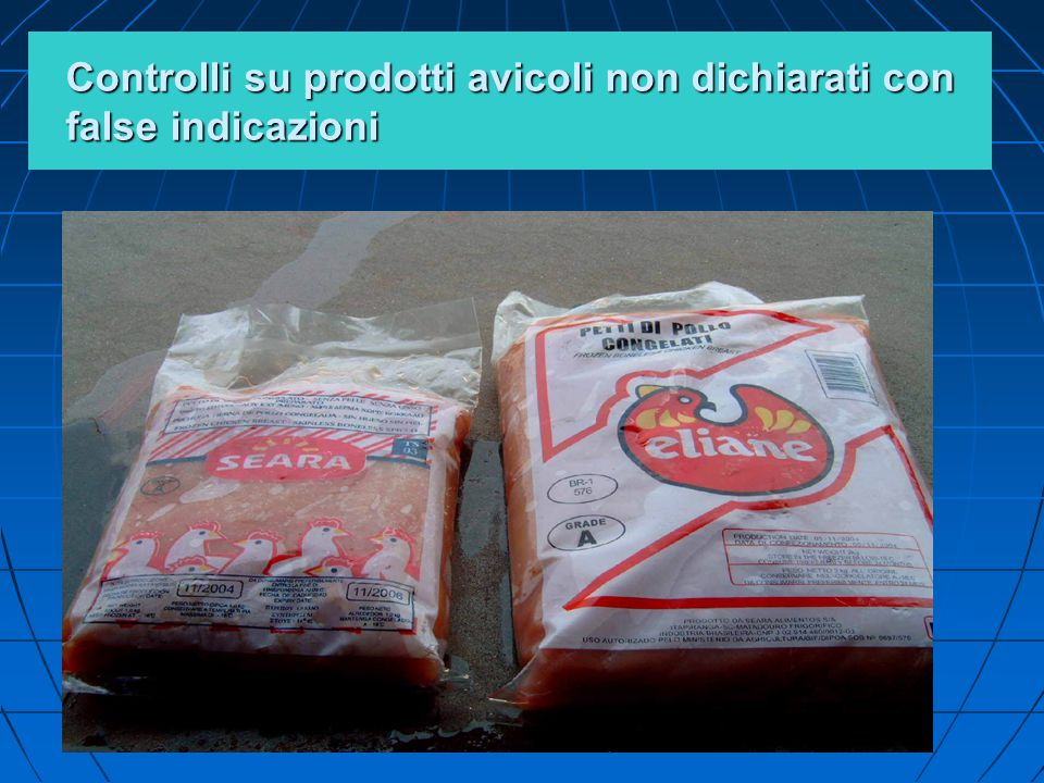 Controlli su prodotti avicoli non dichiarati con false indicazioni