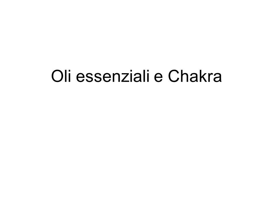 Oli essenziali e Chakra