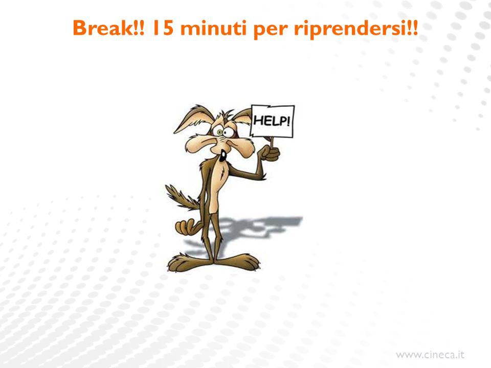 www.cineca.it Break!! 15 minuti per riprendersi!!
