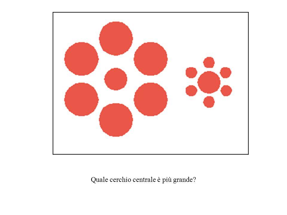 Quale cerchio centrale è più grande?