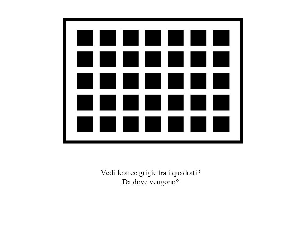 Vedi le aree grigie tra i quadrati? Da dove vengono?