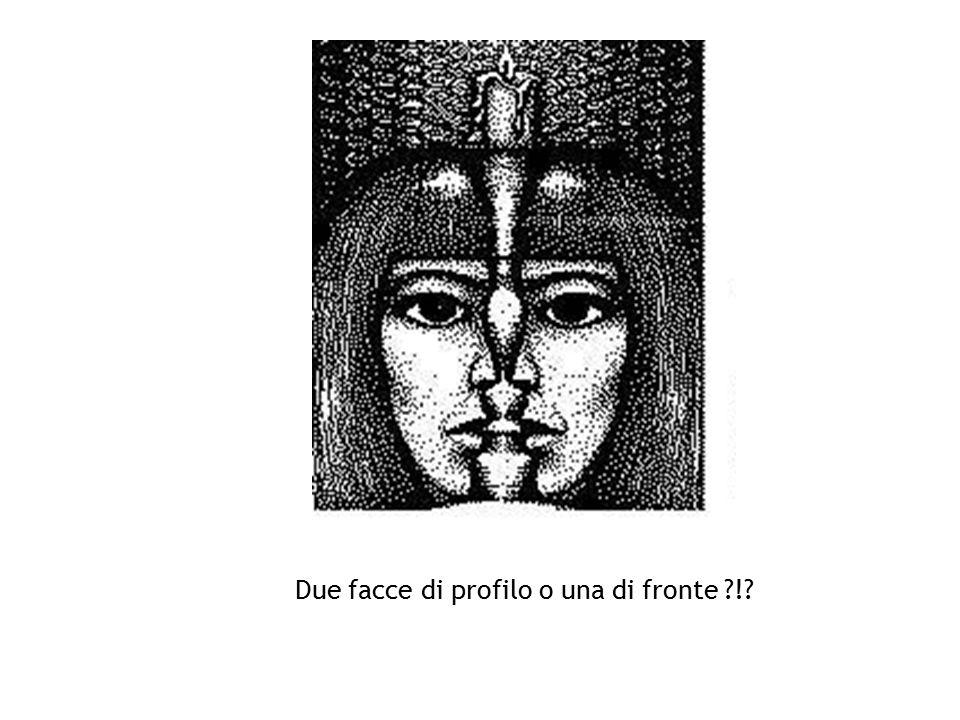 Due facce di profilo o una di fronte ?!?