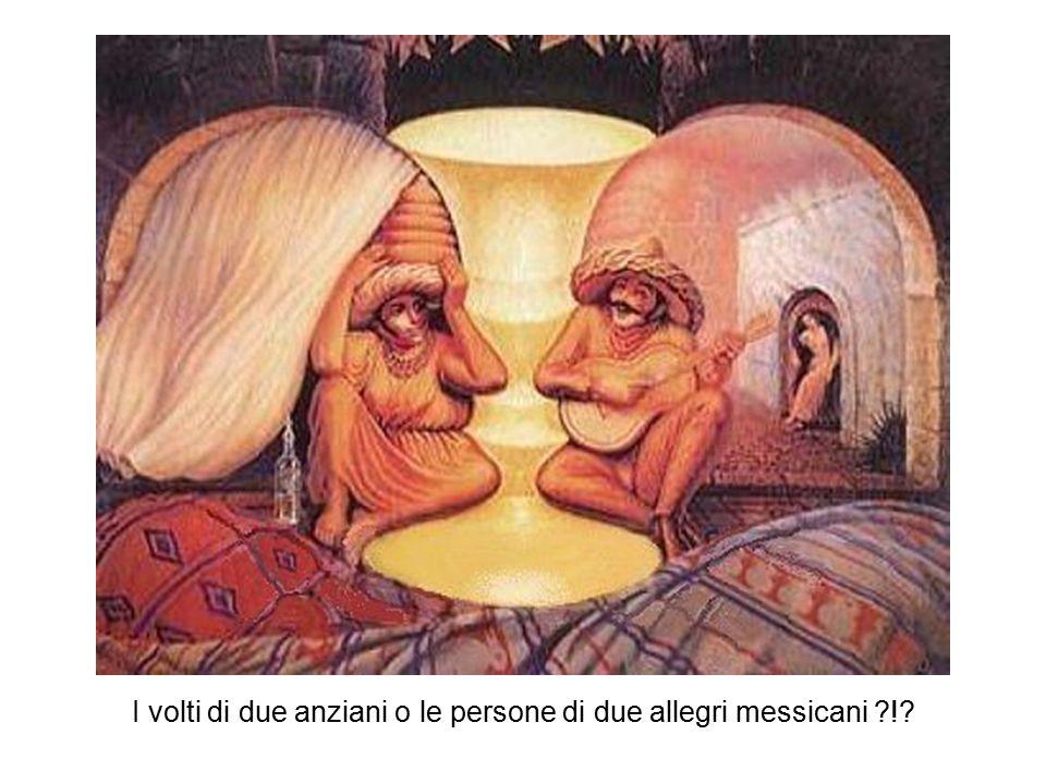 I volti di due anziani o le persone di due allegri messicani ?!?