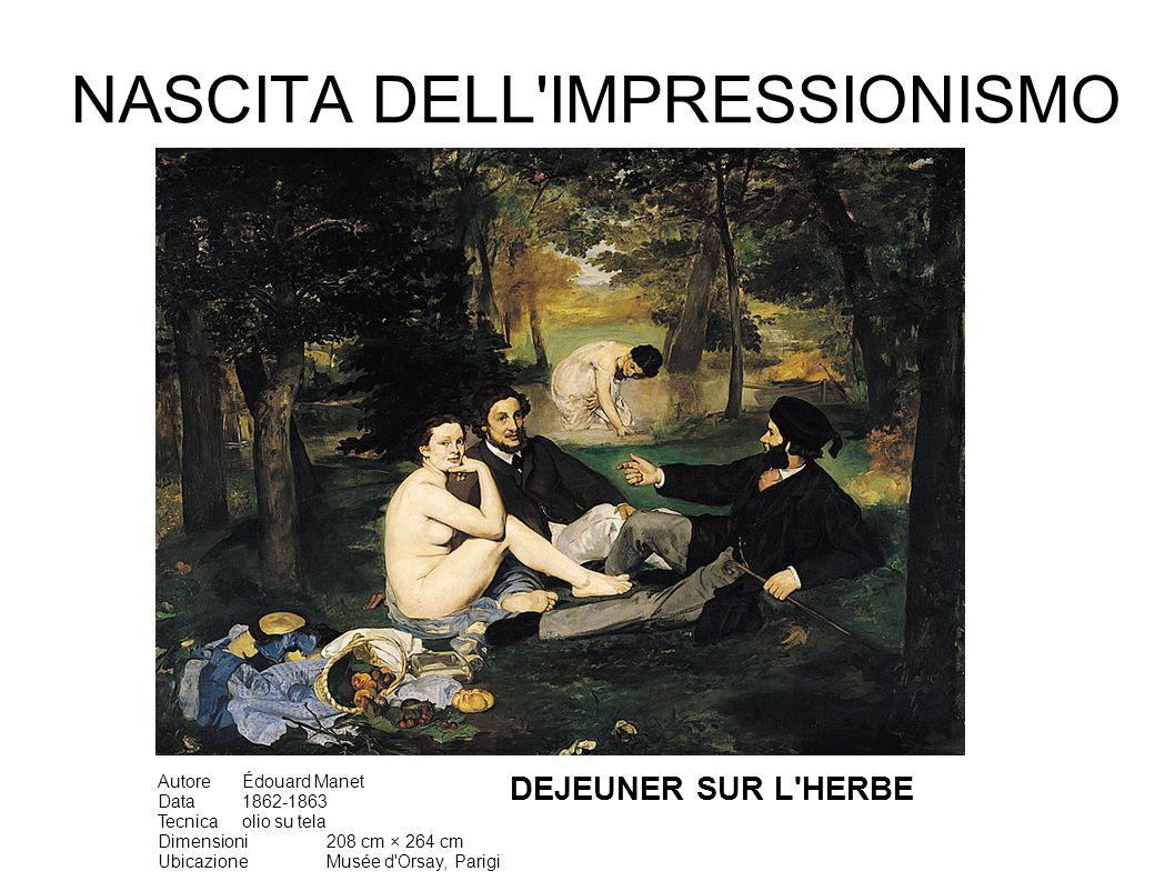 Manet non ha mai esposto con gli Impressionisti, ma è considerato il maestro del movimento per la tecnica pittorica: pennellate veloci, evita il chiaroscuro, non usa la prospettiva ma adotta il sistema bidimensionale delle stampe giapponesi molto di moda a Parigi nella seconda metà dell 800 AutoreÉdouard Manet Data1868 Tecnicaolio su tela Dimensioni146 cm × 114 cm UbicazioneMusée d Orsay, Parigi Okusai La grande onda - 1832 RITRATTO DI EMIL ZOLA