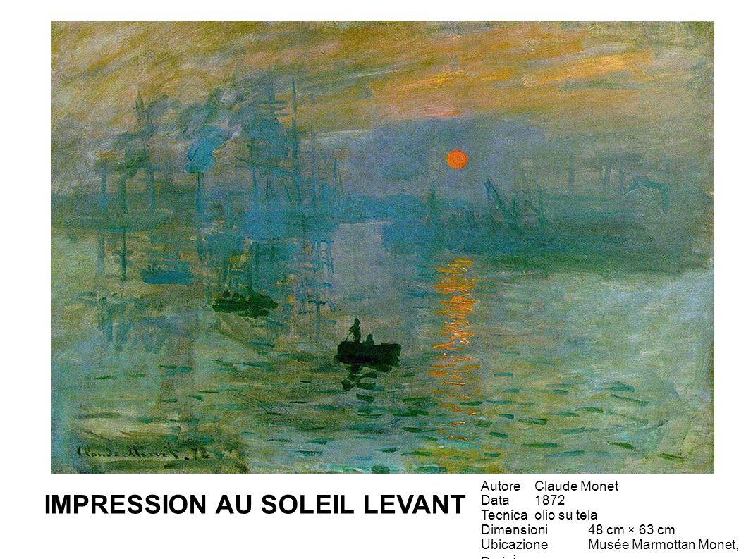 Questo dipinto fu definito impressionista da un critico in senso dispregiativo, come tutti i dipinti della stessa mostra.