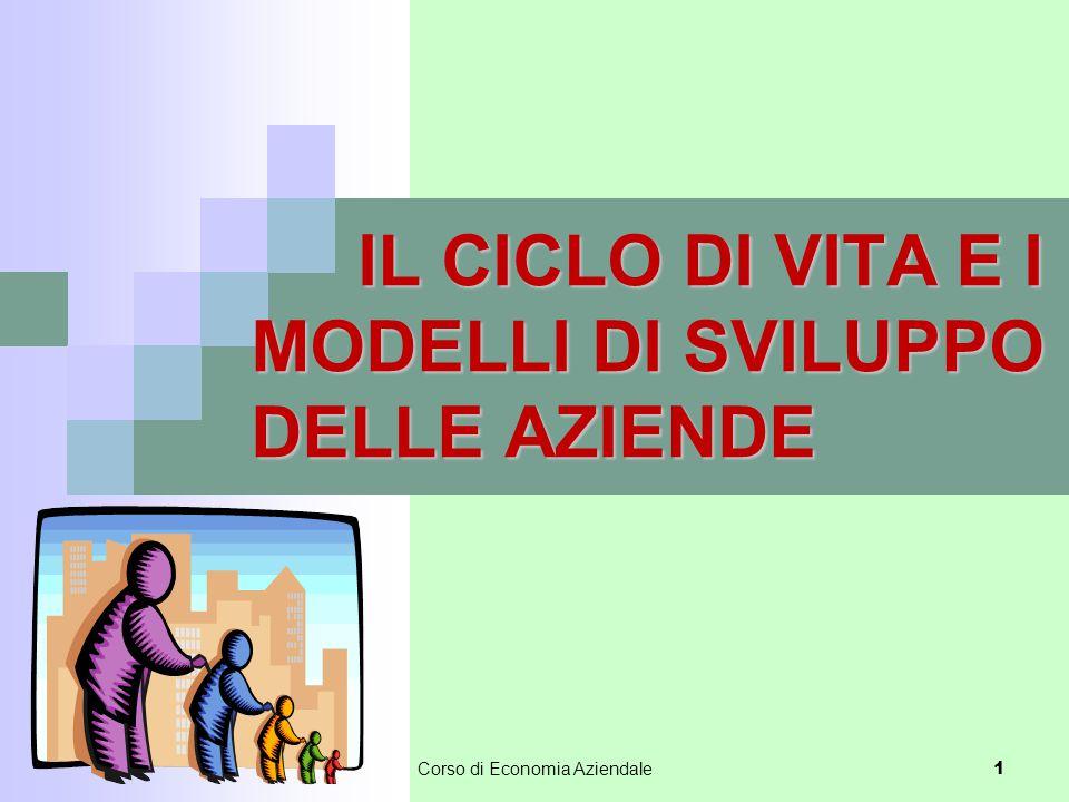 Corso di Economia Aziendale 1 IL CICLO DI VITA E I MODELLI DI SVILUPPO DELLE AZIENDE