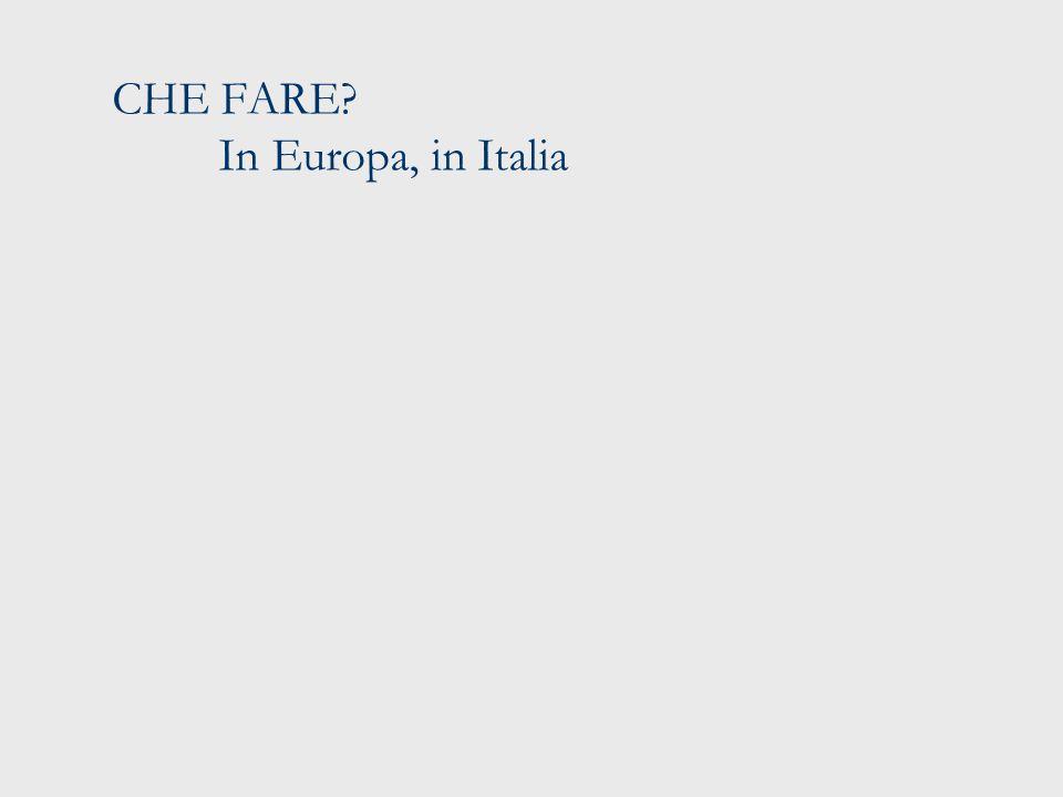CHE FARE In Europa, in Italia