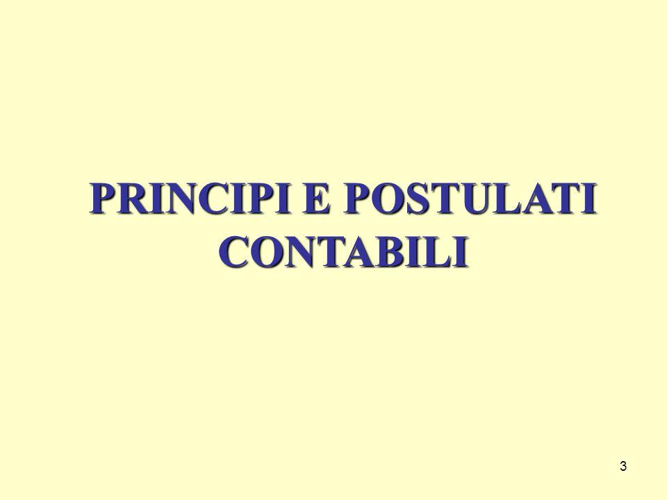 3 PRINCIPI E POSTULATI CONTABILI