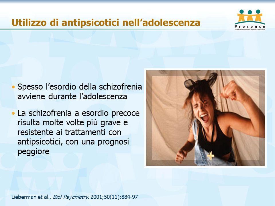 Utilizzo di antipsicotici nell'adolescenza Lieberman et al., Biol Psychiatry.
