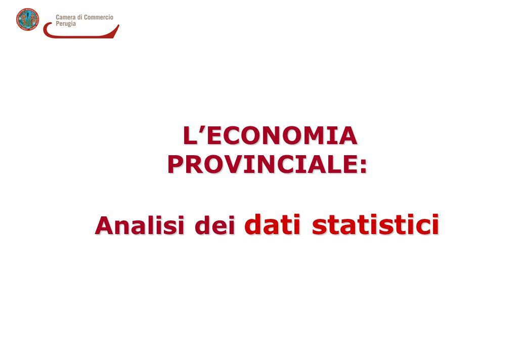 L'ECONOMIA PROVINCIALE: L'ECONOMIA PROVINCIALE: Analisi dei dati statistici