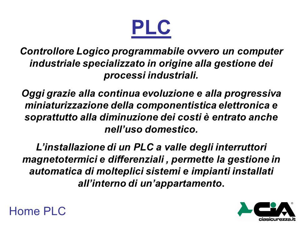 Home PLC PLC Controllore Logico programmabile ovvero un computer industriale specializzato in origine alla gestione dei processi industriali. Oggi gra