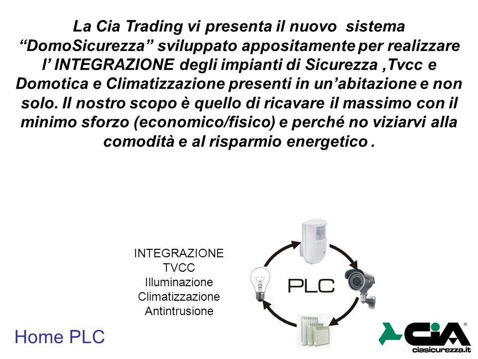 """Home PLC La Cia Trading vi presenta il nuovo sistema """"DomoSicurezza"""" sviluppato appositamente per realizzare l' INTEGRAZIONE degli impianti di Sicurez"""