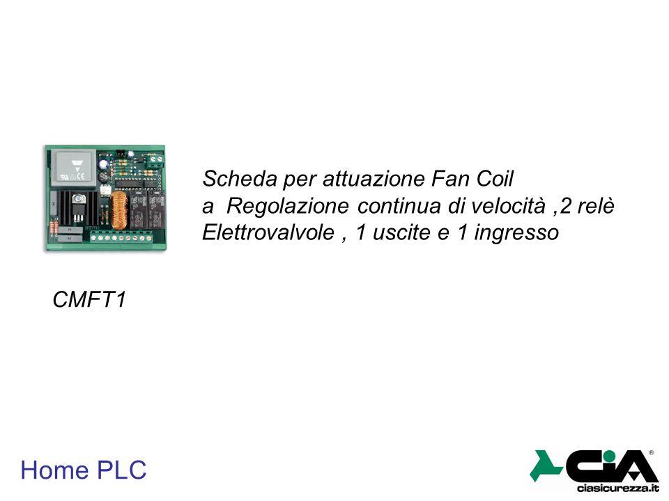 Home PLC CMFT1 Scheda per attuazione Fan Coil a Regolazione continua di velocità,2 relè Elettrovalvole, 1 uscite e 1 ingresso