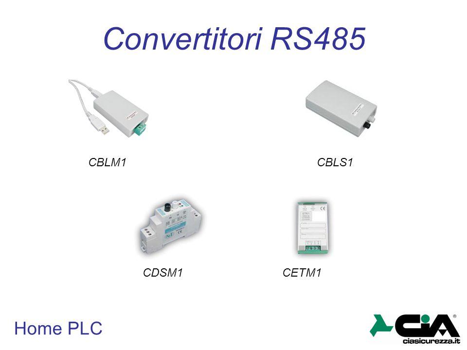 Home PLC Convertitori RS485 CBLM1 CBLS1 CDSM1CETM1