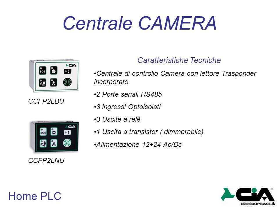 Home PLC Centrale CAMERA CCFP2LBU CCFP2LNU Caratteristiche Tecniche Centrale di controllo Camera con lettore Trasponder incorporato 2 Porte seriali RS