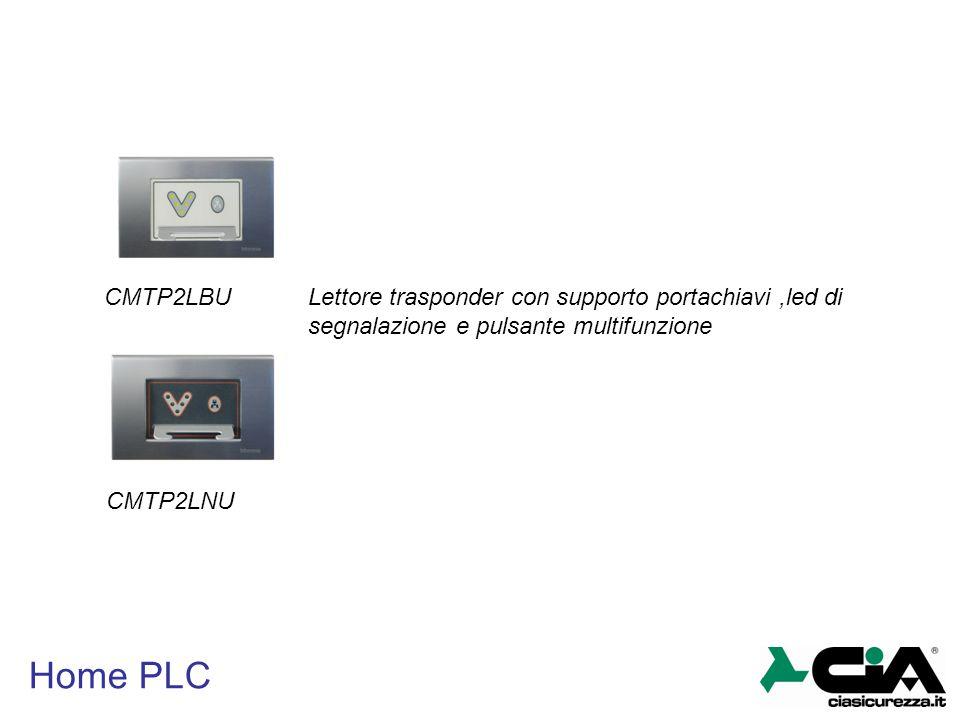 Home PLC CMTP2LBU CMTP2LNU Lettore trasponder con supporto portachiavi,led di segnalazione e pulsante multifunzione