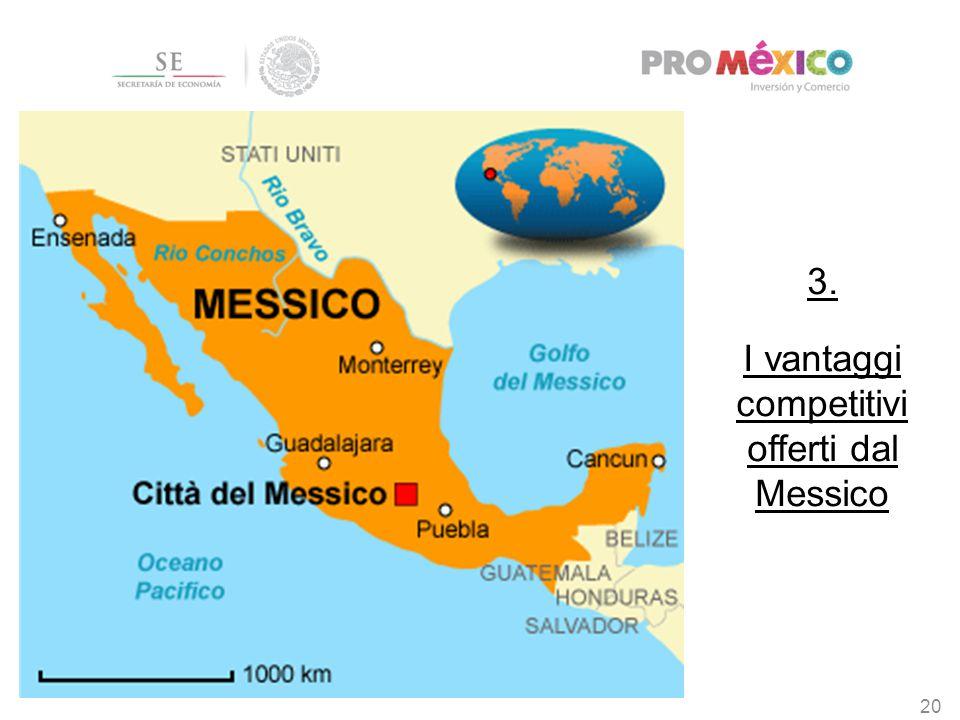 3. I vantaggi competitivi offerti dal Messico 20