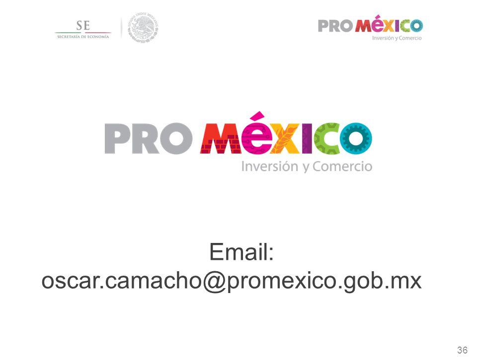 36 Email: oscar.camacho@promexico.gob.mx