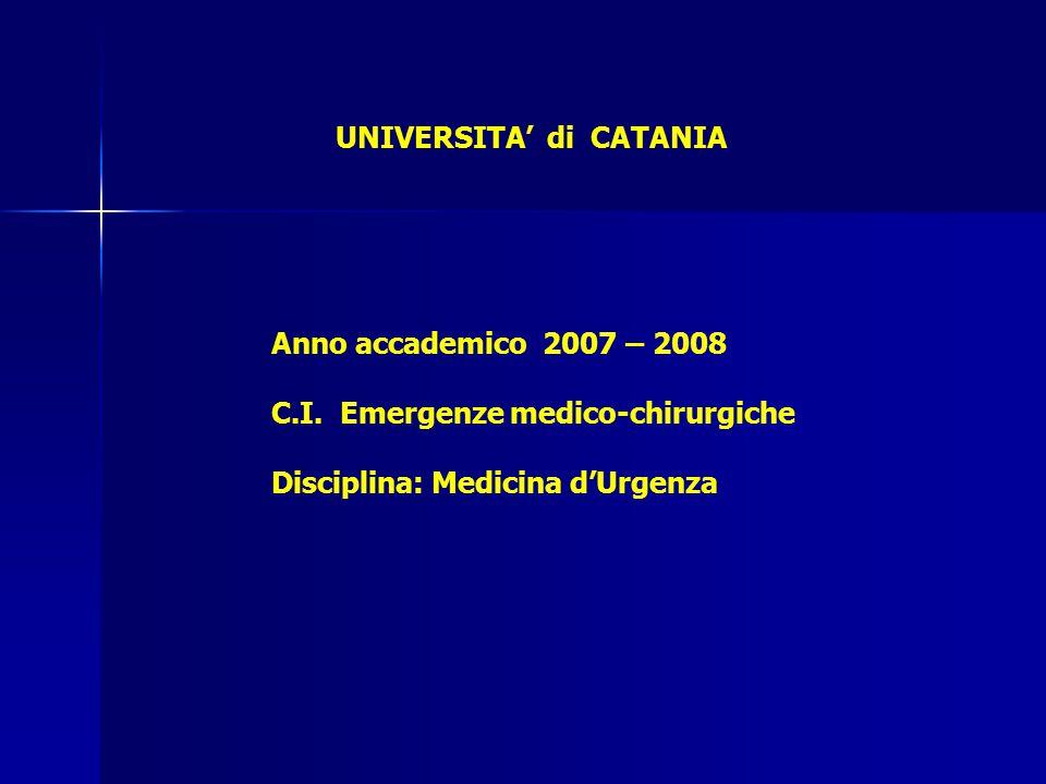 UNIVERSITA' di CATANIA Anno accademico 2007 – 2008 C.I.