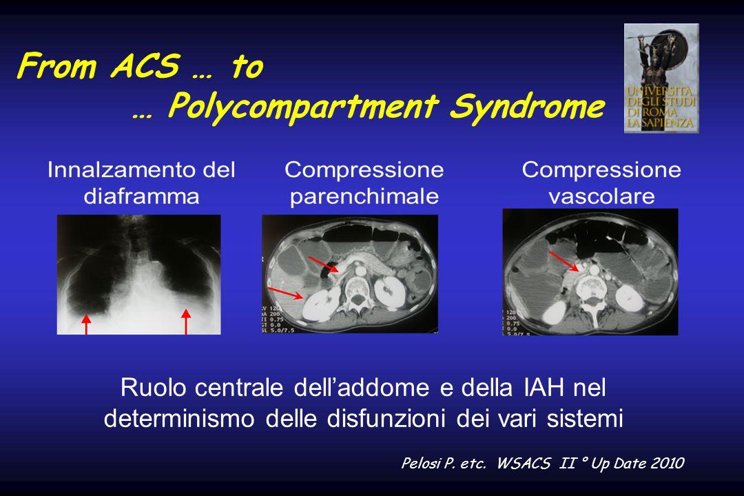 From ACS … to … Polycompartment Syndrome Ruolo centrale dell'addome e della IAH nel determinismo delle disfunzioni dei vari sistemi Pelosi P. etc. WSA