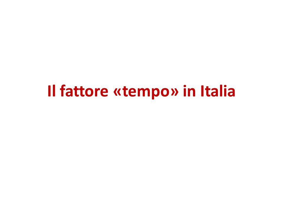 Il fattore «tempo» in Italia