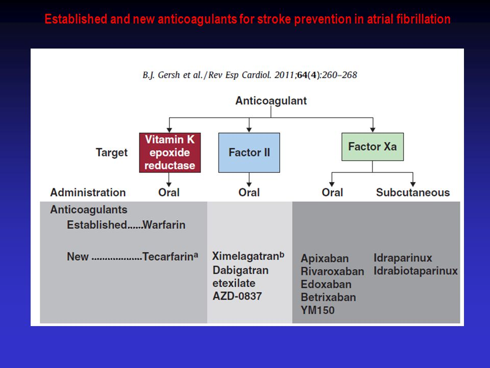 Established and new anticoagulants for stroke prevention in atrial fibrillation