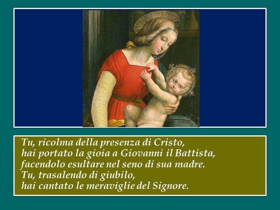Vergine e Madre Maria, tu che, mossa dallo Spirito, hai accolto il Verbo della vita nella profondità della tua umile fede, totalmente donata all'Etern