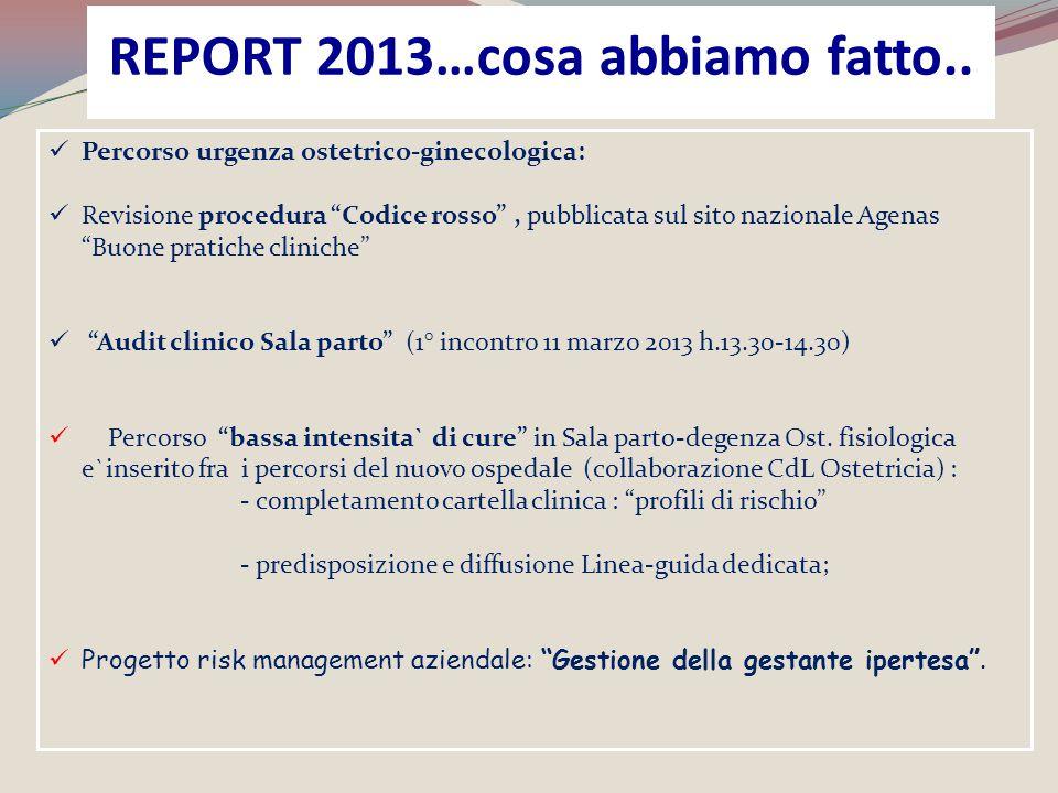 """Percorso urgenza ostetrico-ginecologica: Revisione procedura """"Codice rosso"""", pubblicata sul sito nazionale Agenas """"Buone pratiche cliniche"""" """"Audit cli"""