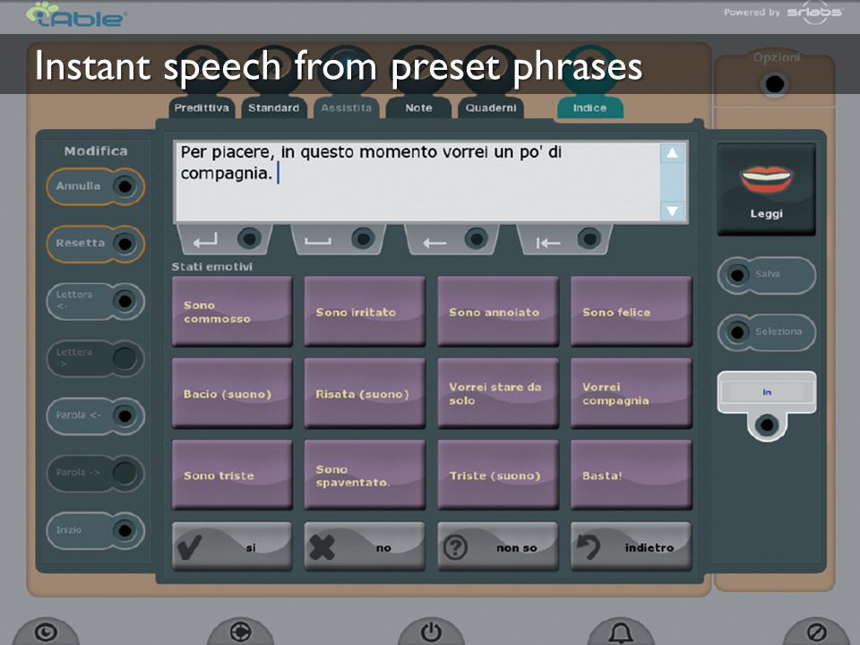Instant speech from preset phrases
