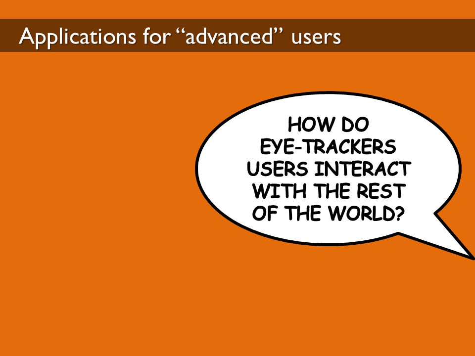"Applications for ""advanced"" users"