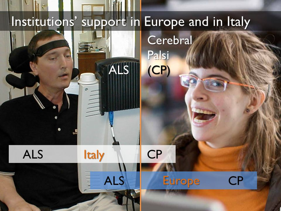 ALS CP Italy Europe Cerebral Palsi (CP) ALS Institutions' support in Europe and in Italy