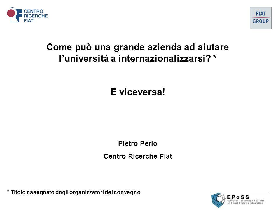 Come può una grande azienda ad aiutare l'università a internazionalizzarsi.