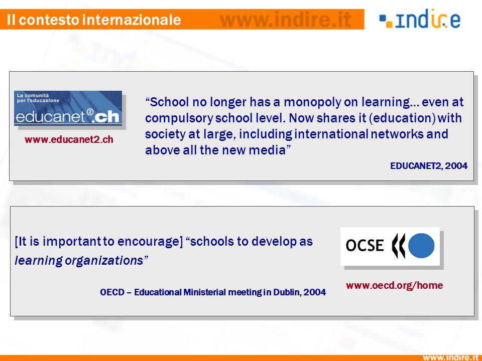 Il contesto internazionale Possono le ICT trasformare la scuola o si tratta di un'eterna promessa.